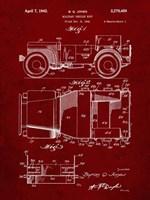 Military Vehicle Body Patent - Burgundy Fine-Art Print