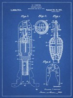 Explosive Missile Patent - Blueprint Fine-Art Print