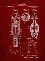 Explosive Missile Patent - Burgundy Fine-Art Print