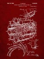 Aircraft Propulsion & Power Unit Patent - Burgundy Fine-Art Print