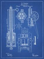 Machine Gun Patent - Blueprint Fine-Art Print