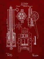 Machine Gun Patent - Burgundy Fine-Art Print