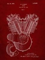 Engine Patent - Burgundy Fine-Art Print