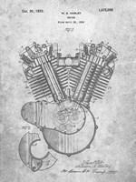 Engine Patent - Slate Fine-Art Print