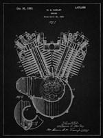 Engine Patent - Vintage Black Fine-Art Print