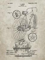 Bicycle Patent - Sandstone Fine-Art Print