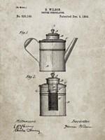 Coffee Percolator Patent - Sandstone Fine-Art Print