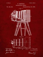 Photographic Camera Patent - Burgundy Fine-Art Print