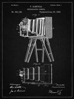 Photographic Camera Patent - Vintage Black Fine-Art Print