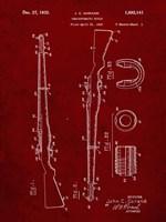 Semi-Automatic Rifle Patent - Burgundy Fine-Art Print