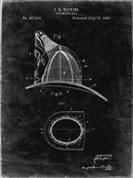Fireman's Hat Patent - Black Grunge Fine-Art Print