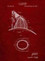 Fireman's Hat Patent - Burgundy Fine-Art Print