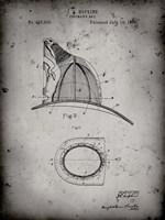 Fireman's Hat Patent - Faded Grey Fine-Art Print