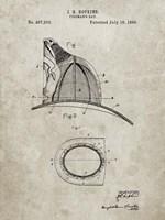 Fireman's Hat Patent - Sandstone Fine-Art Print