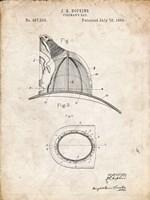 Fireman's Hat Patent - Vintage Parchment Fine-Art Print