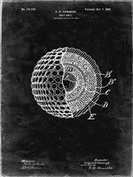 Golf Ball Patent - Black Grunge Fine-Art Print
