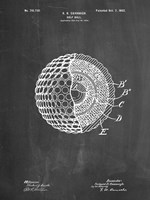 Golf Ball Patent - Chalkboard Fine-Art Print