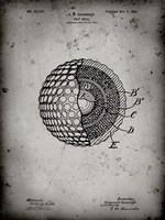Golf Ball Patent - Faded Grey Fine-Art Print
