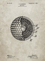 Golf Ball Patent - Sandstone Fine-Art Print