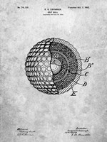 Golf Ball Patent - Slate Fine-Art Print