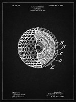 Golf Ball Patent - Vintage Black Fine-Art Print