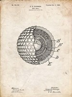 Golf Ball Patent - Vintage Parchment Fine-Art Print