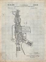Firearm With Auxiliary Bolt Closure Mechanism Patent - Antique Grid Parchment Fine-Art Print