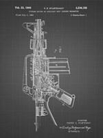 Firearm With Auxiliary Bolt Closure Mechanism Patent - Black Grid Fine-Art Print
