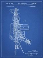 Firearm With Auxiliary Bolt Closure Mechanism Patent - Blueprint Fine-Art Print