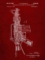 Firearm With Auxiliary Bolt Closure Mechanism Patent - Burgundy Fine-Art Print