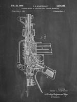 Firearm With Auxiliary Bolt Closure Mechanism Patent - Chalkboard Fine-Art Print