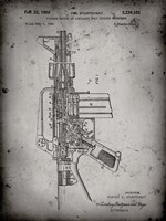 Firearm With Auxiliary Bolt Closure Mechanism Patent - Faded Grey Fine-Art Print