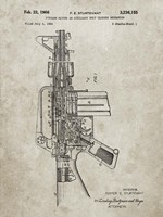 Firearm With Auxiliary Bolt Closure Mechanism Patent - Sandstone Fine-Art Print