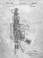Firearm With Auxiliary Bolt Closure Mechanism Patent - Slate Fine-Art Print