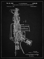 Firearm With Auxiliary Bolt Closure Mechanism Patent - Vintage Black Fine-Art Print