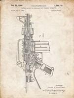 Firearm With Auxiliary Bolt Closure Mechanism Patent - Vintage Parchment Fine-Art Print