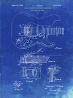 Tremolo Device for Stringed Instruments Patent - Faded Blueprint Fine-Art Print