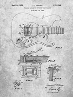 Tremolo Device for Stringed Instruments Patent - Slate Fine-Art Print