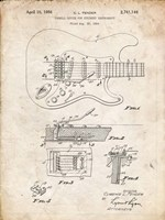 Tremolo Device for Stringed Instruments Patent - Vintage Parchment Fine-Art Print