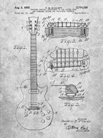 Guitar & Combined Bridge & Tailpiece Therefor Patent - Slate Fine-Art Print