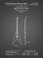 Stringed Musical Instrument Patent - Black Grid Fine-Art Print