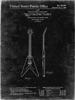 Stringed Musical Instrument Patent - Black Grunge Fine-Art Print