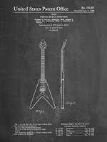 Stringed Musical Instrument Patent - Chalkboard Fine-Art Print