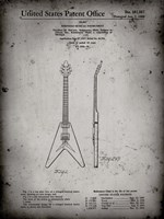 Stringed Musical Instrument Patent - Faded Grey Fine-Art Print