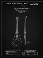 Stringed Musical Instrument Patent - Vintage Black Fine-Art Print