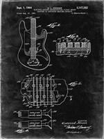 Electric Guitar Patent - Black Grunge Fine-Art Print