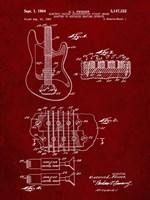 Electric Guitar Patent - Burgundy Fine-Art Print