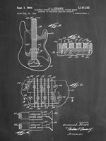 Electric Guitar Patent - Chalkboard Fine-Art Print