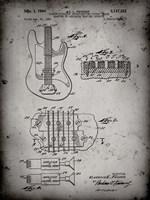 Electric Guitar Patent - Faded Grey Fine-Art Print