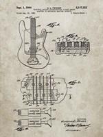 Electric Guitar Patent - Sandstone Fine-Art Print